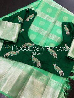 Best Blouse Designs, Simple Blouse Designs, Saree Blouse Neck Designs, Saree Blouse Patterns, Bridal Blouse Designs, Maggam Work Designs, Trendy Sarees, Elegant Saree, Work Blouse