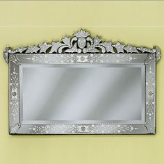 Large Loreta Clear Venetian Wall Mirror - 30W x 44.5H in. - Wall Mirrors at Hayneedle $829