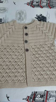 Use arrowhead lace stitch to make increases in a top down sweater