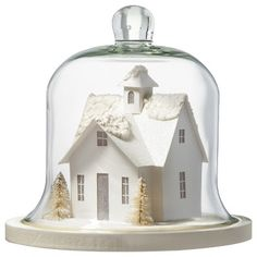Glass Cloche with House II : Target Mobile
