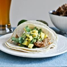 Crockpot Beer Carnitas Tacos