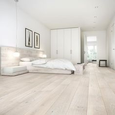 Barlinek Sense Oak Gentle Engineered Wood Flooring Barlinek Oak Gentle is an engineered extra wide plank floor with a cream brushed matt lacquer finish, offering a fresh elegance and unsurpassed beauty to any space. White Vinyl Flooring, Wide Plank Flooring, Engineered Wood Floors, Timber Flooring, Light Wood Flooring, Flooring Ideas, White Wood Floors, White Washed Floors, Modern Wood Floors