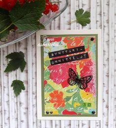 Synttärikortti 30-vuotiaalle / Birthday greeting card for a 30-year-old 🌸🦋 . . . #synttärikortti #korttiaskartelua #itsetehtykortti… I Card, Books, Libros, Book, Book Illustrations, Libri