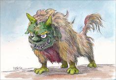 Chinese-Lion by NORIMATSUKeiichi.deviantart.com on @deviantART