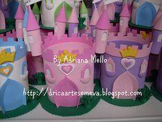 DRICA ARTES EM EVA: Castelos das Princesas - centro de mesa