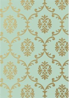 Bastille Wallpaper from Thibaut Monterey Collection. A wallpaper printed with a scrolling trellis design in metallic gold on seafoam. Victorian Wallpaper, Damask Wallpaper, Designer Wallpaper, Pattern Wallpaper, Iphone Wallpaper, Damask Stencil, Web Design, Trellis Design, Bastille