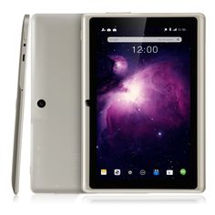 Dragon Touch Y88X Plus 7'' Quad Core Google Android 4.4 KitKat Tablet PC, IPS Display, HD Screen 1024x600, 8GB, Bluetooth, Dual Camera - Apricot White - New Release Tablets And Tablet Accessories