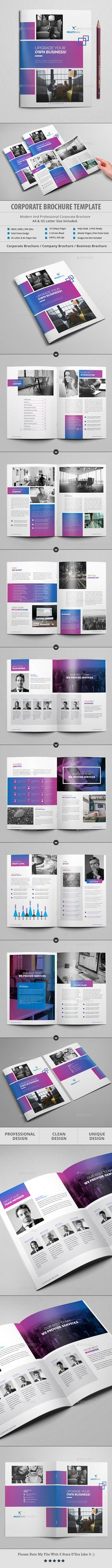 Corporate Brochure Template InDesign INDD