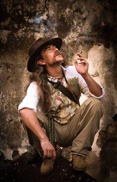 Fumando en las ruinas de san jeronimo