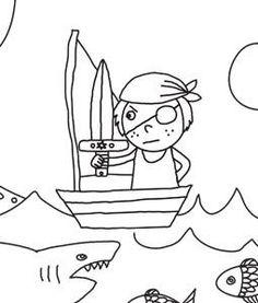 Piraten kleurplaat