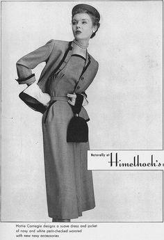 February Vogue 1949 Hattie Carnegie