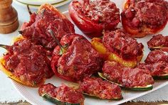 Stuffed Zucchini and Red Bell Peppers (Giada De Laurentiis) Recipe - Details, Calories, Nutrition Information   RecipeOfHealth.com