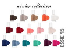 """Essie Winter Collection '15"" by jessalessandra on Polyvore featuring moda, Essie, Winter, colors, lovely, essie e New"