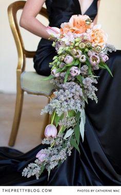 Gorgeous hanging bouquet | Photographer: Catherine Mac, Flowers: Fleur le Cordeur, Dress: Kobus Dippenaar