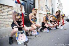 Les Femen urinent sur le président ukrainien