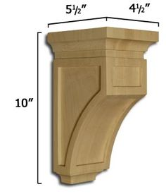 Milan Mission Corbel.  Buy a few, paint them a fun color and hang them in a grouping to hold plants in white ceramic pots.