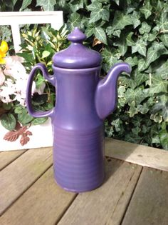 1970s Purple Vintage Coffee Pot by LucysVintageLocker on Etsy, £14.00