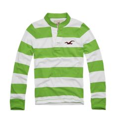 Green and White Stripe Point Loma Henley from Holister - Makes me feel all summery!