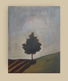 Original Acrylic Painting - Abstract Landscape Painting - canvas 11x14