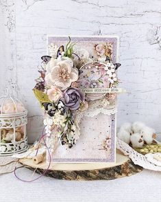 Shabby Chic Cards, Vintage Shabby Chic, Altered Composition Books, Birthday Present For Husband, Gift Envelope, Scrapbook Cards, Scrapbooking, Card Making Inspiration, Card Tags