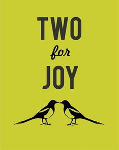 Two for joy magpie print