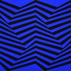 Untitled - Luis Sacilotto Op art - jagged lines Op Art, Art Optical, Optical Illusions, Concrete Art, Art Database, Blue Art, State Art, Gothic, Online Art