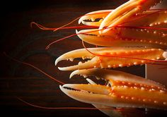 Amadai in a Yuzu citrus broth with lily bulb, prepared by Yosuke Suga Executive Chef of L'Atelier de Joel Robuchon, New York, NY. Good Food, Yummy Food, Orange Recipes, Scampi, Molecular Gastronomy, Fish And Seafood, Food Styling, Food Art, Seafood