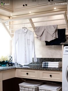 Great laundry room solution.
