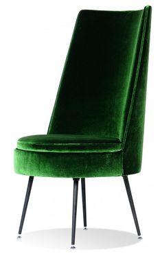 beautiful Dutch chair in emerald green