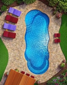 The CRESCENT COVE Looking for a tanning ledge pool with the perfect blend of curb appeal and swim space? As one of the most popular free form pools available, the Crescent Cove packs tons of fun features into a single elegant design.