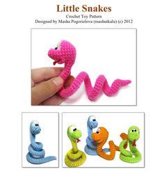 Little Snake - pdf crochet toy pattern - amigurumi pattern tutorial