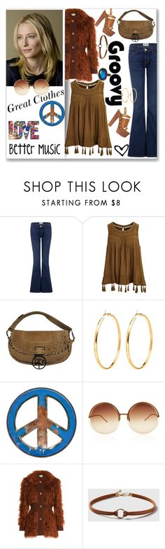 """Cate Blanchett Playing a 1970's Me"" by ahapplet ❤ liked on Polyvore featuring Current/Elliott, VILA, Christian Dior, GroovyStuff, Linda Farrow, Isa Arfen, Dorothy Perkins, who and ahapplet"