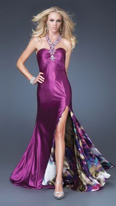 Shop La Femme evening gowns and prom dresses at Simply Dresses. Designer prom gowns, celebrity dresses, graduation and homecoming party dresses. Short Semi Formal Dresses, Formal Gowns, Formal Wear, Satin Gown, Satin Dresses, Evening Dresses, Prom Dresses, Pageant Gowns, Sexy Cocktail Dress