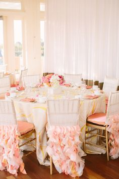 Super cute pink and orange bridal shower