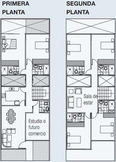 PLANOS DE VIVIENDA EN 140 m2 DE TERRENO 3 PISOS www.planosdecasas.blogspot.com