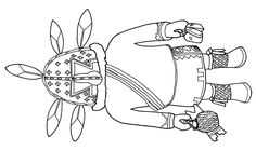 A bird design from the Hopi Indians printable coloring ...