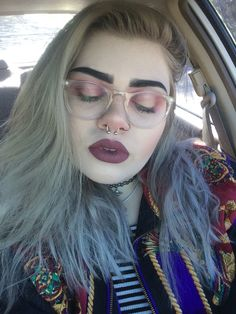 recrystallize, eyes are limecrime's venus palette and lips are...