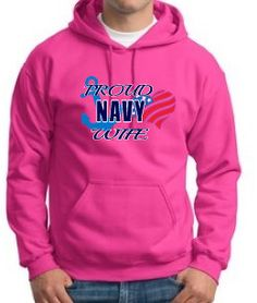 Proud Navy Wife Hoodie by WilliamsDigitalStore on Etsy