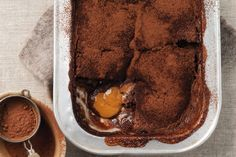 Go to this choc-caramel self-saucing pudding for the perfect hot winter dessert.