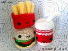cute fast food for Gab's crocheting hobby.