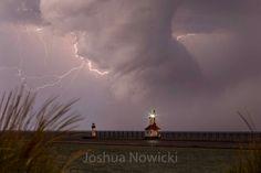 Impressive cloud and lightning in Saint Joseph, Michigan tonight . . . April 25…