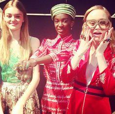 Mannequins en backstage du défilé Gucci