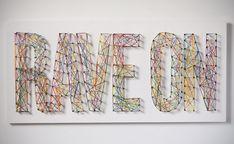 typographic string art