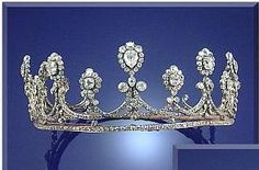 Powis Diamond Tiara. John George Herbert, current and 8th Earl of Powis, married Marijke Sofia Guther.