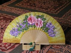 Home Appliances, Hand Fans, Language, Fantasy, Pretty, Tela, Painted Fan, Umbrellas, Manualidades