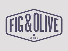 Fig & Olive logo concept -Nice clean lines-