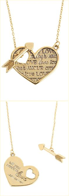 All You Need is Love Necklace love this piece I'd definitely get it engraved a little differently. With my True loves name