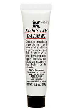 Kiehl's Lip Balm - one of the only lip balm's I'm not allergic to. Kiehl's = miracle worker for me!