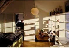 Window Frame Transformed Into Shelves And Desks interior design Swedish House, Amazing Architecture, My Room, Glass Door, Future House, Shelving, Sweet Home, Windows, Contemporary