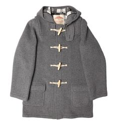 Burrows and Hare Light Grey Water Repellent Wool Duffle Coat: Burrows and Hare Grey Water Repellent Wool Duffle Coat. At Burrows & Hare we are proud of our English Manufacturing and our Water Repellent Wool Duffle coats. Using the finest wool & checked lining these coats are ideal for the decerning Gentleman or Lady and is a coat that goes from a city overcoat to a country outerwear piece effortlessly. True to size fit (Size up for a relaxed fit) Rounded patch pockets with outer flaps Tra...